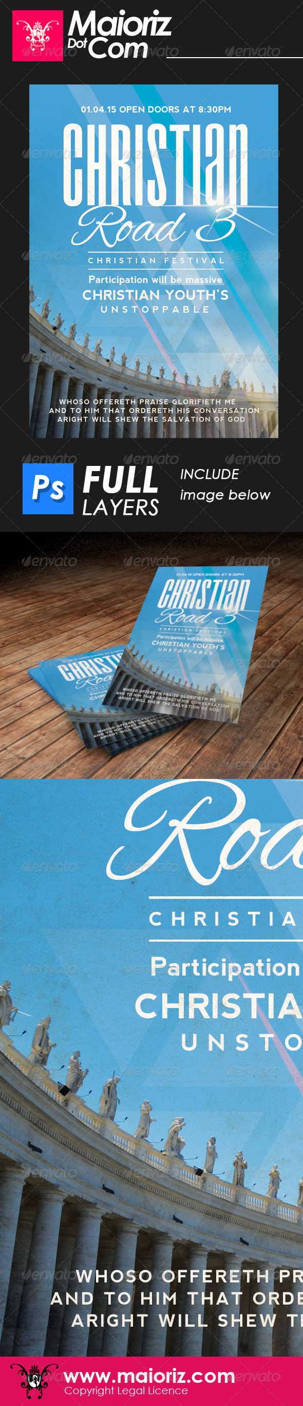 GraphicRiver Christian Road 3 Flyer Church 6592437