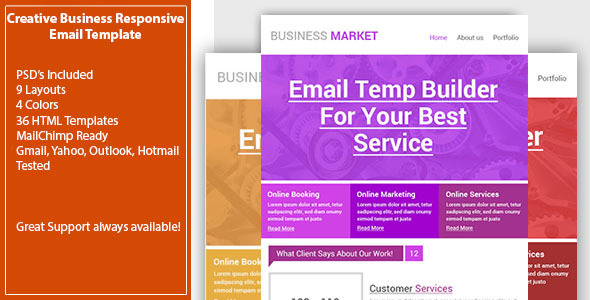 Creative Business Email Template - Responsive - Email Templates Marketing