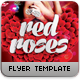 Red Roses Flyer Template - GraphicRiver Item for Sale