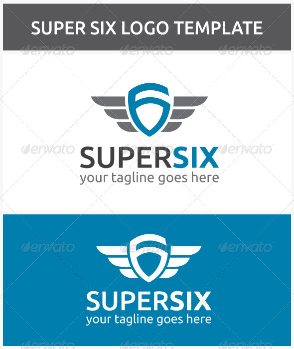 GraphicRiver Super Six Logo 6598150