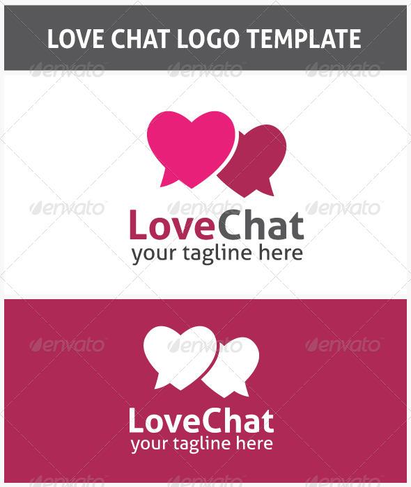 GraphicRiver Love Chat Logo 6598318