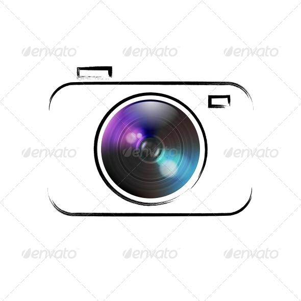 GraphicRiver Vector Camera Icon 6598470