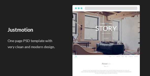 Justmotion - One Page PSD Template