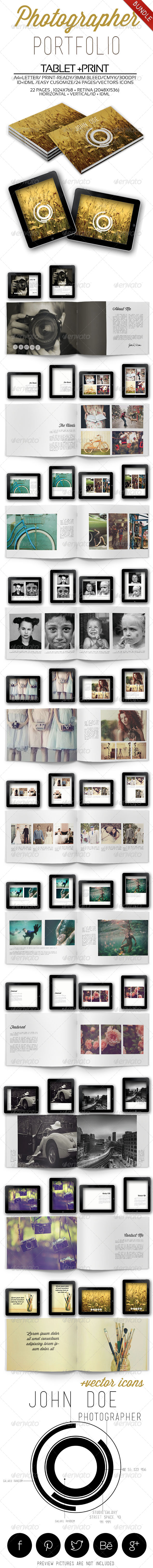 GraphicRiver Photographer Portfolio Bundle 6598573
