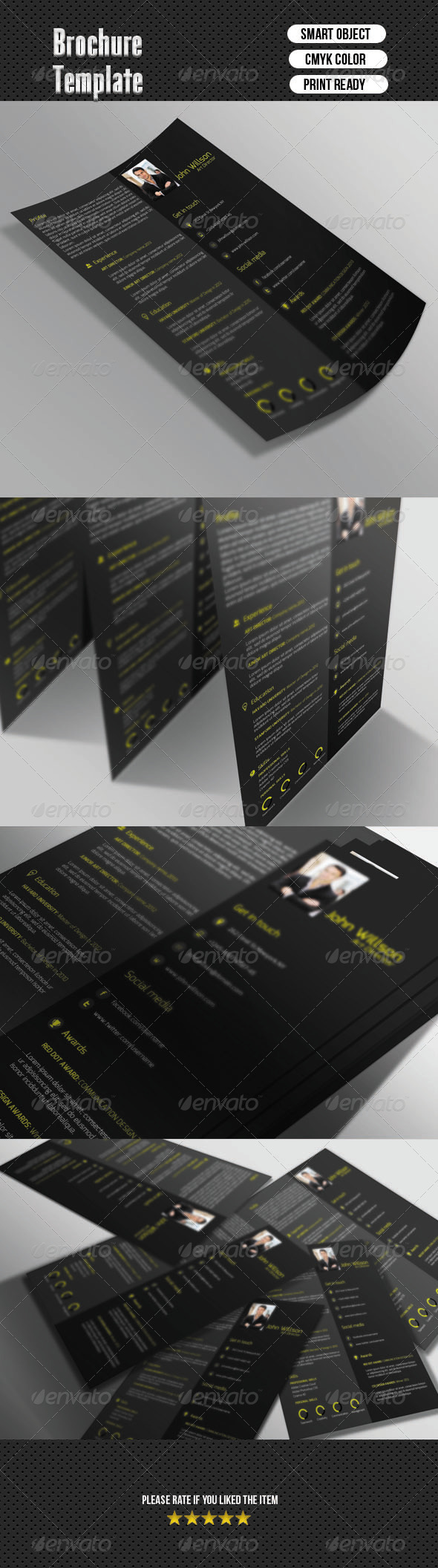 GraphicRiver 1 Page Resume 6598645