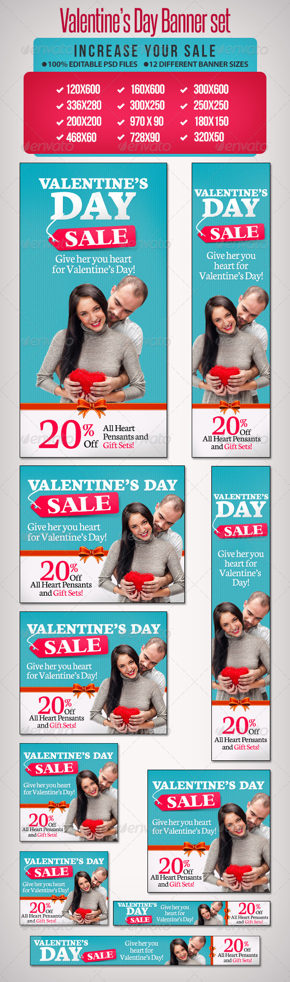 GraphicRiver Valentine s Day Banner Set 4 6598648