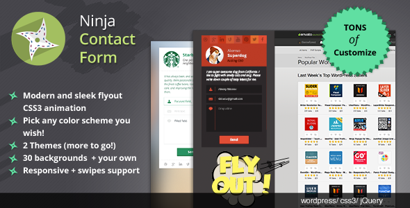 CodeCanyon Ninja Contact Form flyout sidebar for WordPress 6598780