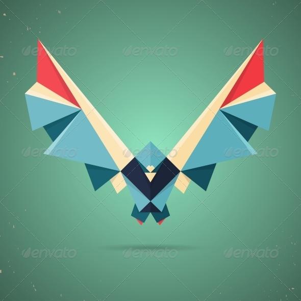 GraphicRiver Origami Bird 6598859