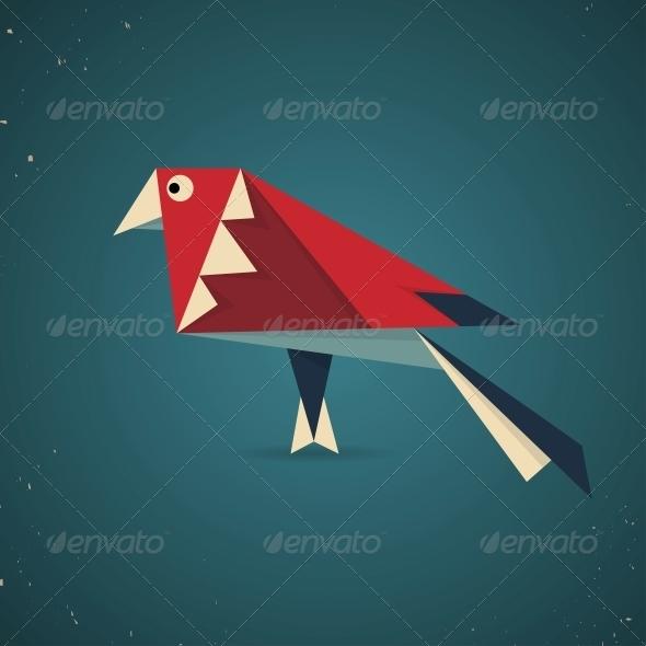GraphicRiver Origami Bird 6598892
