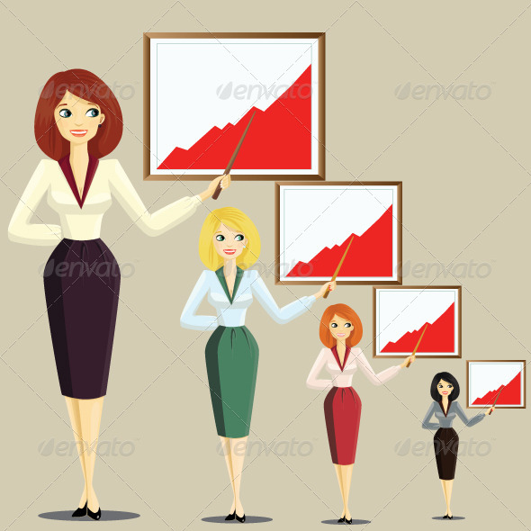 GraphicRiver The woman manager 1630418