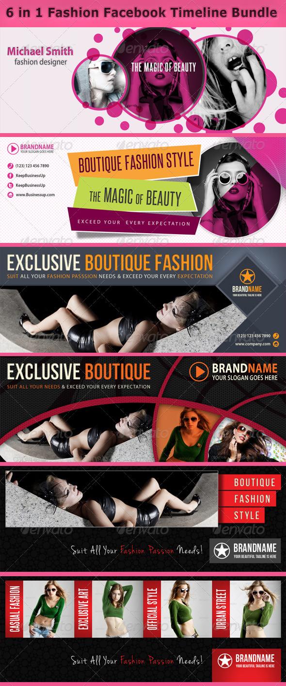 GraphicRiver 6 in 1 Fashion Facebook Timeline Bundle 6599516
