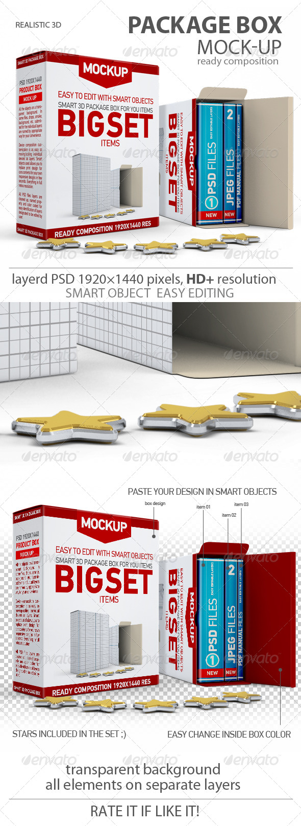 GraphicRiver Package Boxes 3D Mock-up 6599532