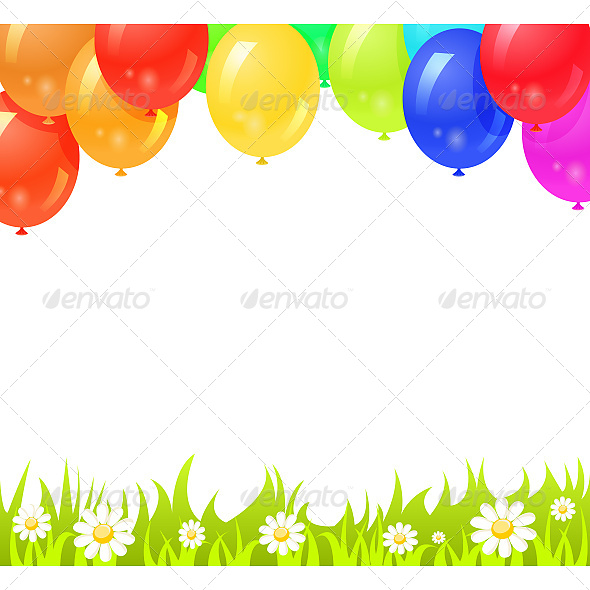 GraphicRiver Background with Colorful Balloons 6599636