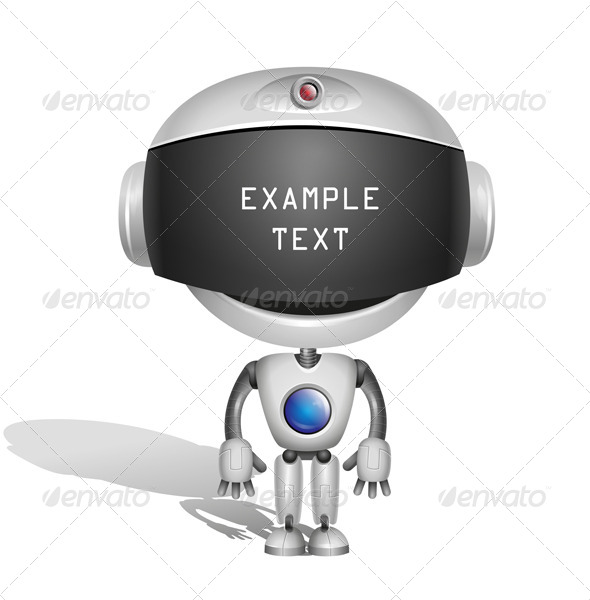 GraphicRiver Robot with Screen Indicator 6599653