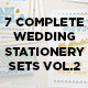 7 Wedding Stationery Sets Vol.2 - GraphicRiver Item for Sale