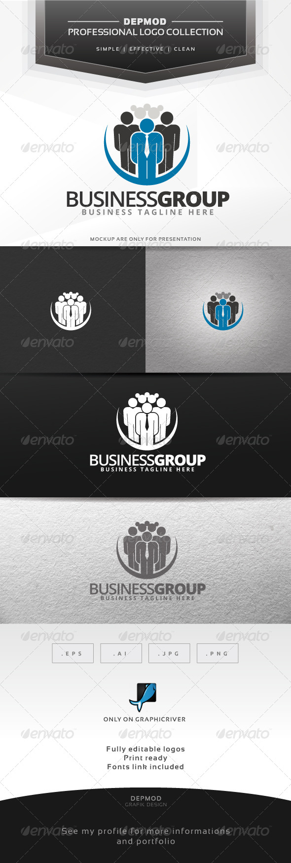 Business Group Logo - Humans Logo Templates