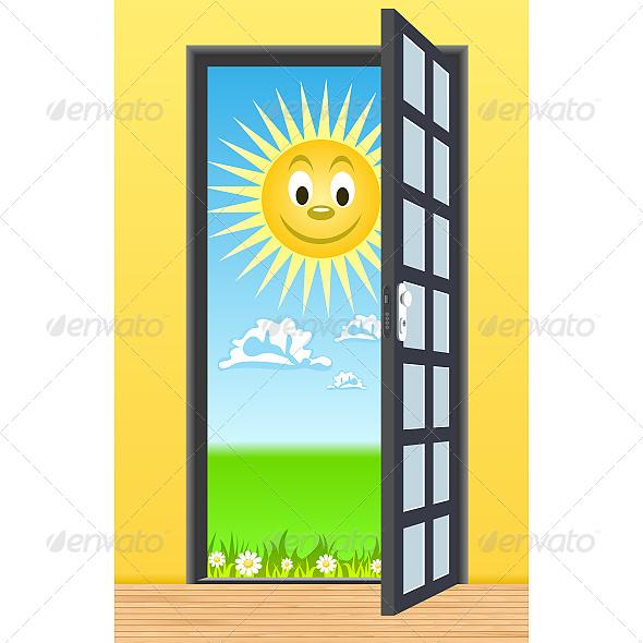 GraphicRiver Door toward Nature 6599790