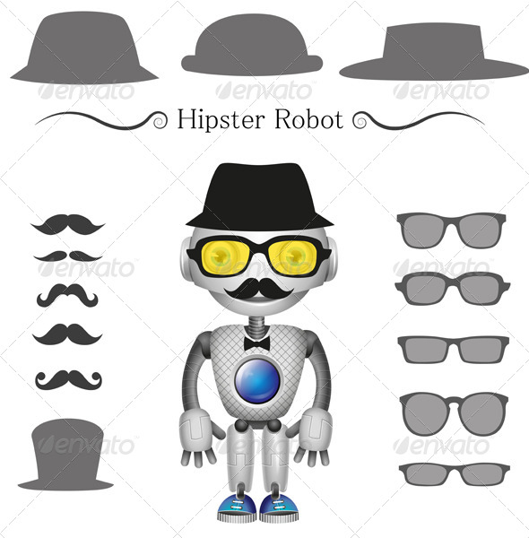 GraphicRiver Hipster Robot 6599942