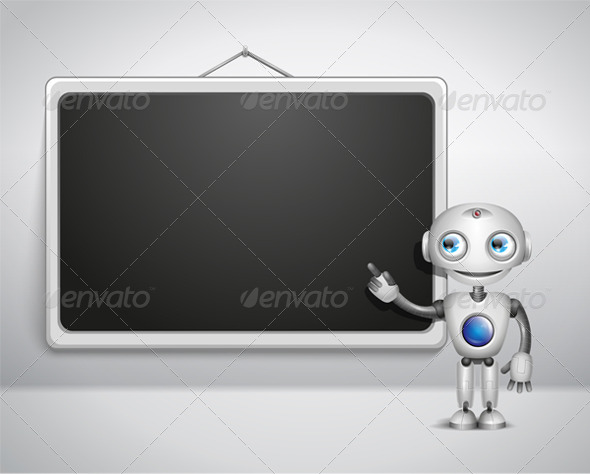 GraphicRiver Robot at the Board 6599986