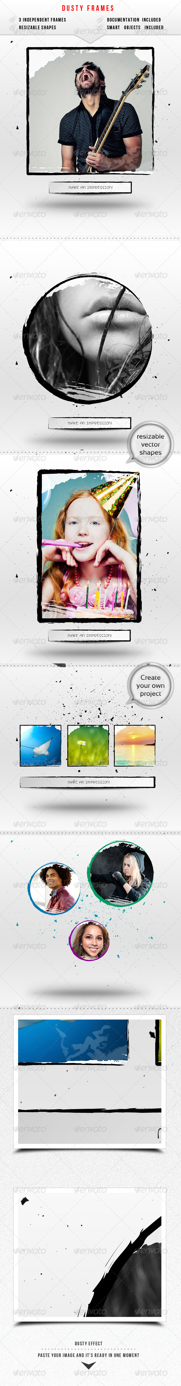GraphicRiver Dusty Image Frames 6600090
