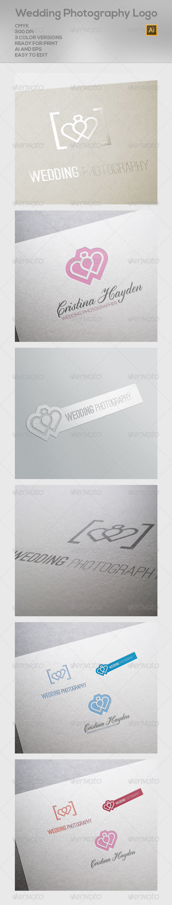 GraphicRiver Wedding Photography Logo 6592751