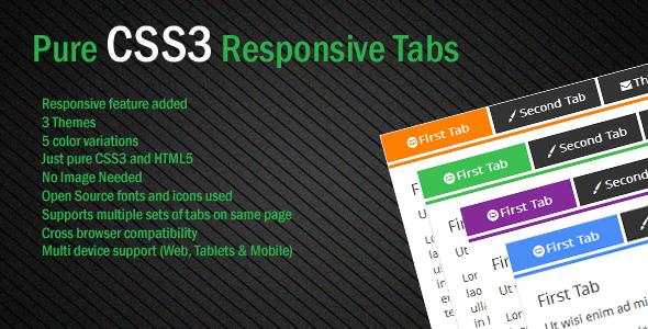 CodeCanyon Pure CSS3 Responsive Tab 6593116