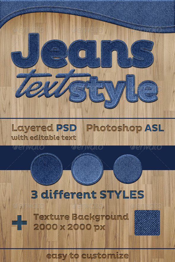 GraphicRiver Jeans Text Style Effect 6600401