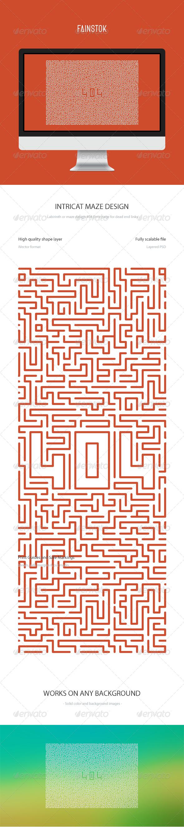 GraphicRiver Maze 404 Error Page UI 6600667