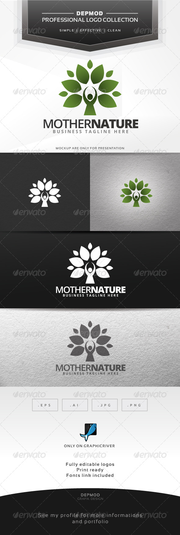 GraphicRiver Mother Nature Logo 6600756