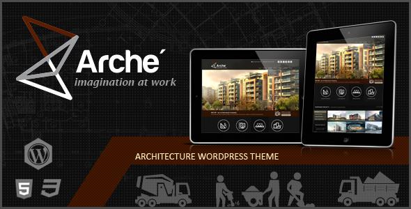 ThemeForest Arche Architecture WordPress Responsive Theme 6554096