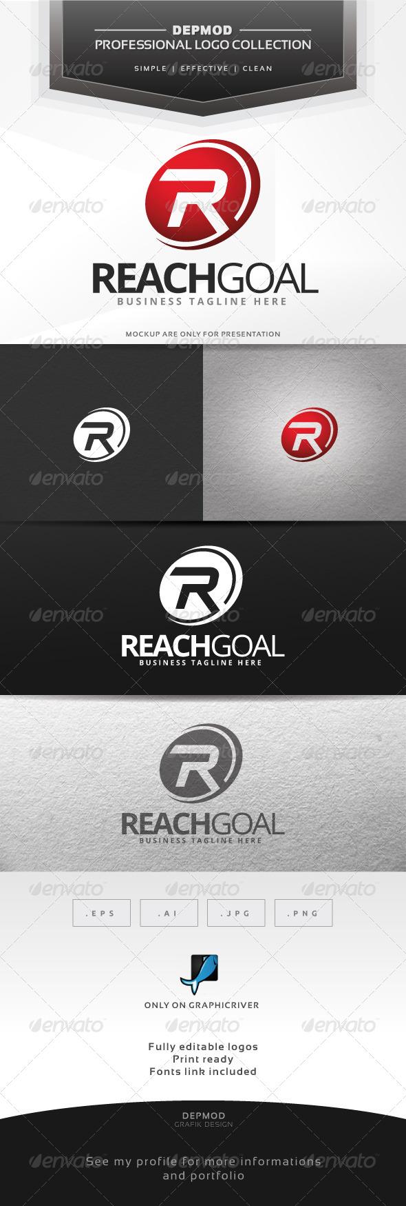 GraphicRiver Reach Goal Logo 6600853
