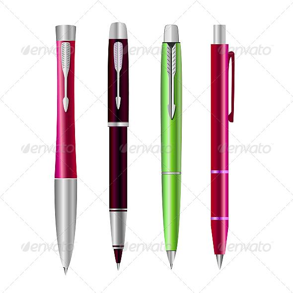 GraphicRiver Set of Pens 6601021