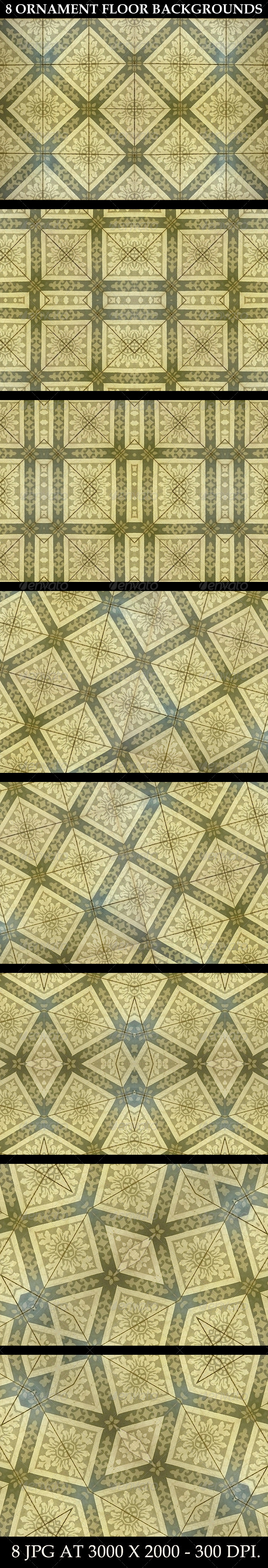 GraphicRiver 8 Ornament Floor Background Patterns 6601032