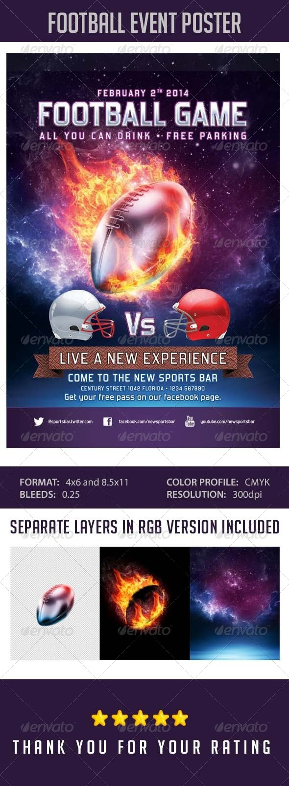 GraphicRiver Flyer Football Event Template 6549237
