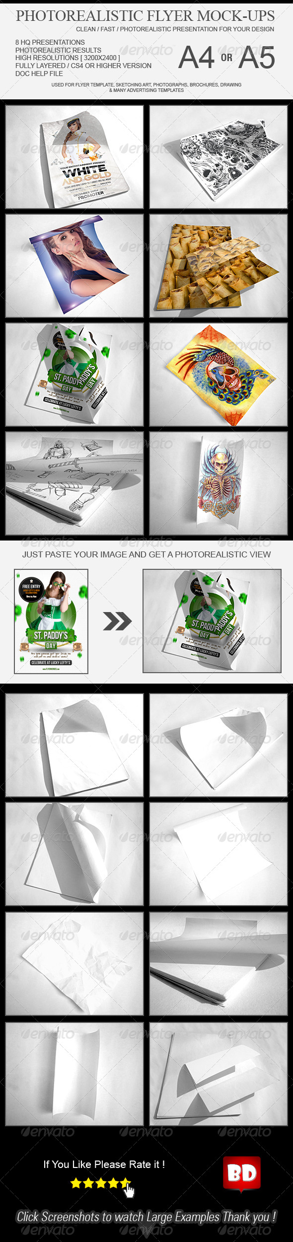 GraphicRiver Photo Realistic Flyer Mockups 6601228