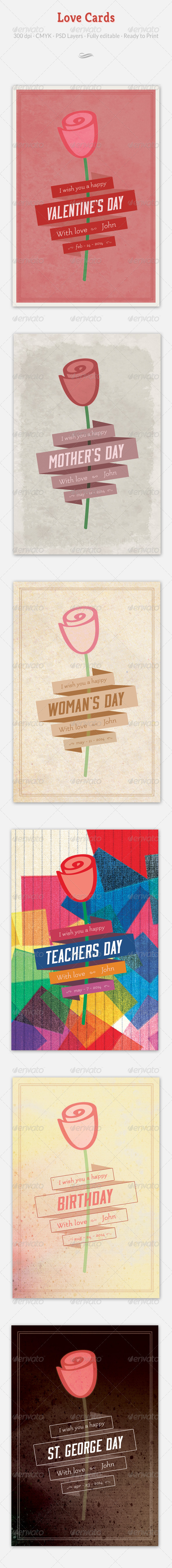 GraphicRiver Love Cards 6601370