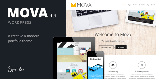 Mova - Wordpress Theme for creative minds