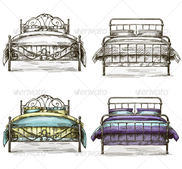 GraphicRiver Set of Sketch Beds 6601478