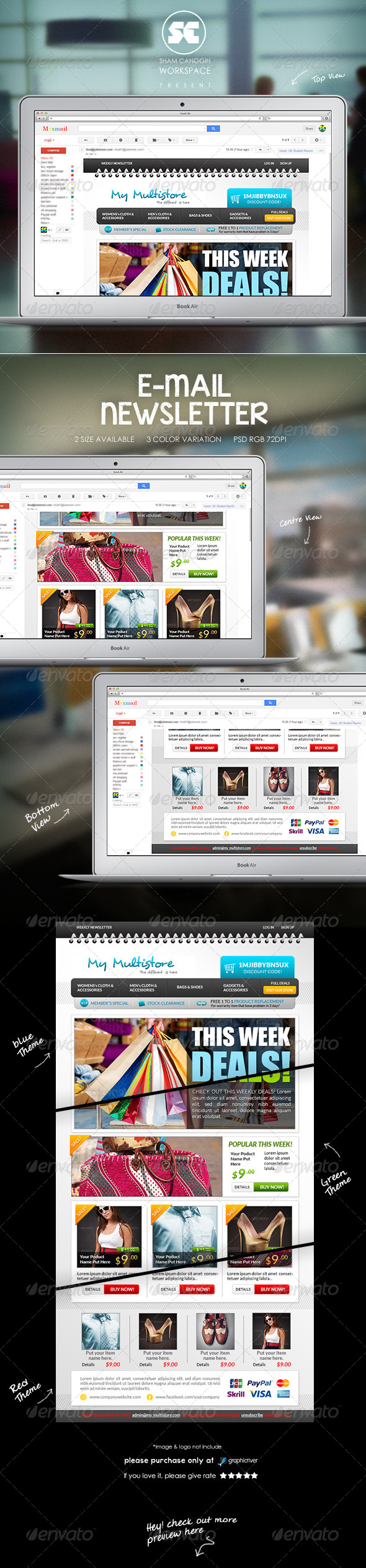 Clean & Modern E-Commerce Email Newsletter - E-newsletters Web Elements
