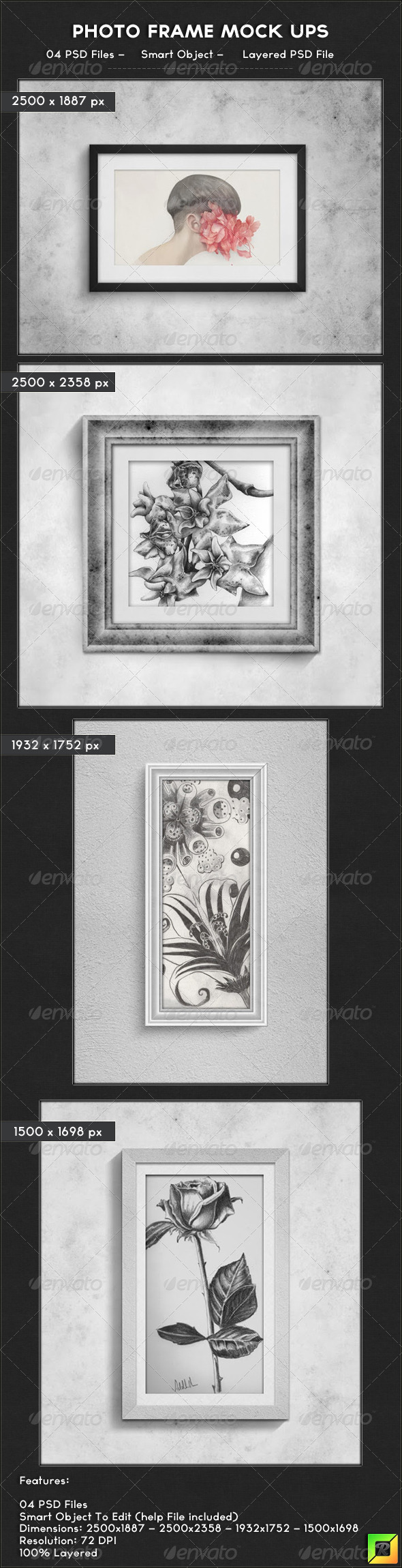 GraphicRiver Photo Frame Mock Ups 6601777