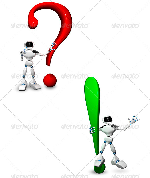 GraphicRiver Robot with a Question Mark 6601819