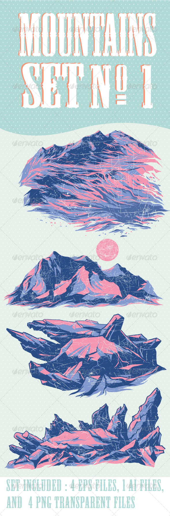 GraphicRiver Mountains Set No.1 6592765