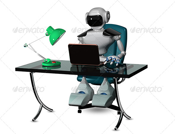 GraphicRiver Robot at the Table 6601836