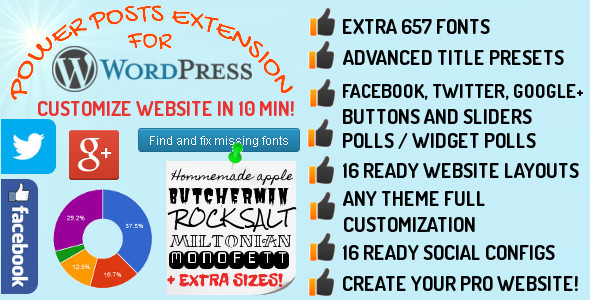 CodeCanyon Power Posts WordPress Extension Pack 6569752