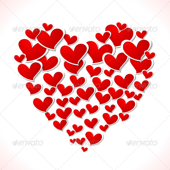 Valentines Day Bright Vector Background - Valentines Seasons/Holidays