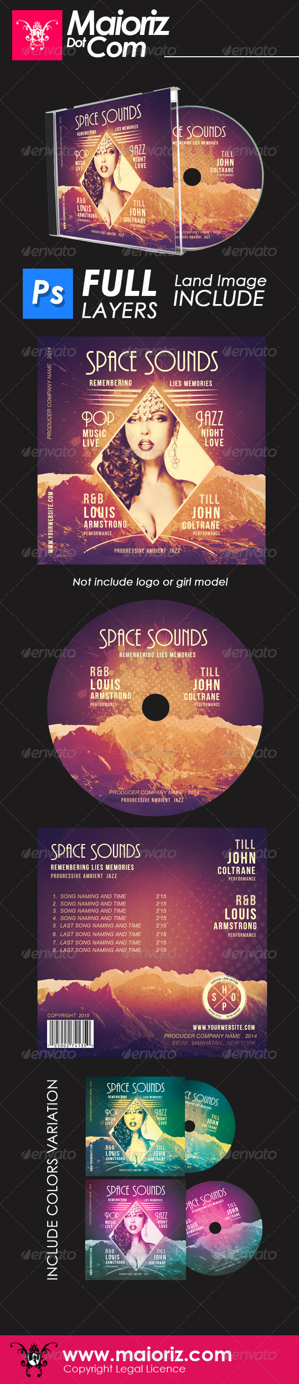 GraphicRiver Space Sounds Cd Artwork 6602217