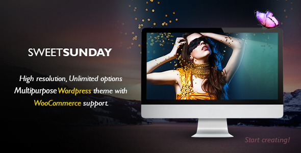 ThemeForest Sweet Sunday Responsive WordPress Portfolio 5606969