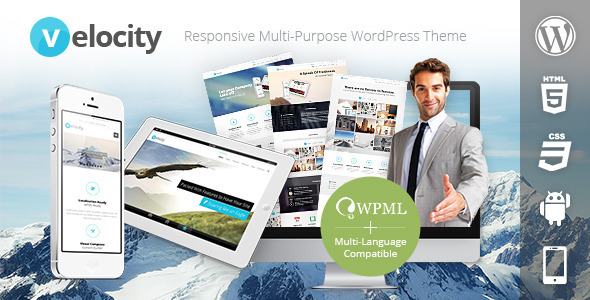 01 largepreview.  large preview Velocity Responsive Multi Purpose WordPress Theme (Business)