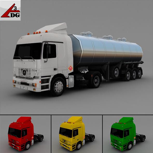 3DOcean Mercedes Actros 6602374