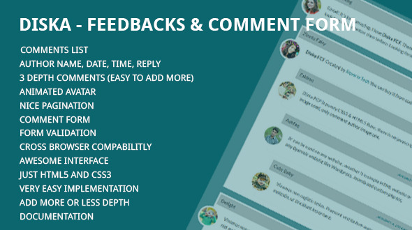 Diska - Feedbacks & Comment Form - CodeCanyon Item for Sale